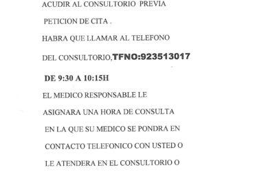 ATENCIÓN EN EL CONSULTORIO MÉDICO DE SAUCELLE