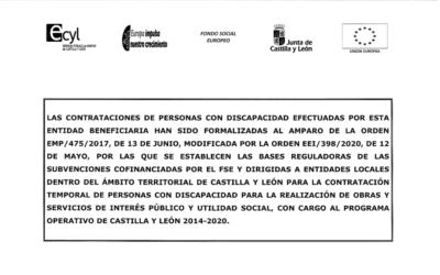Subvención discapacitados 2021